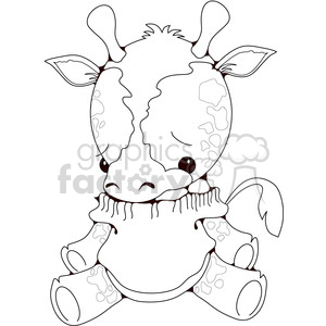 Stuffed Giraffe clipart. Royalty-free image # 388520