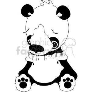 Stuffed Panda Bear clipart. Commercial use image # 388530