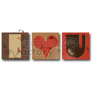 Blocks I Heart U clipart. Commercial use image # 388540