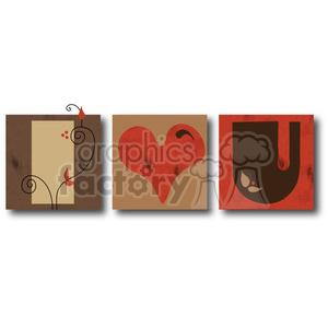 cartoon I+love+you love heart valentines