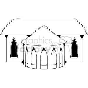 Castle Structure 03 clipart. Royalty-free image # 388600
