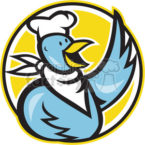 chef bird chicken cook food restaurant mascot logo