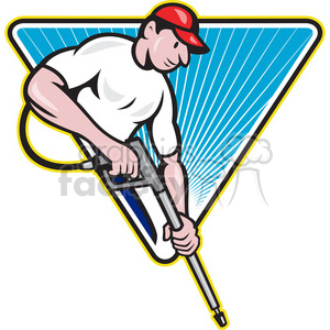 guy with a pressure washer 388284 vector clip art image ...