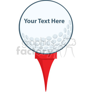 5696 Royalty Free Clip Art Golf Ball With Tee clipart. Royalty-free image # 388710