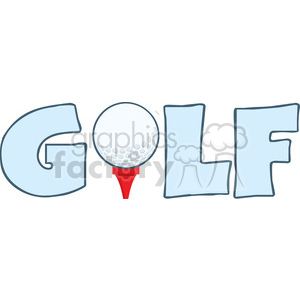 cartoon funny golf+ball golf golfing ball