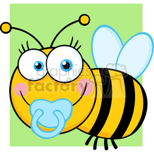 5610 Royalty Free Clip Art Baby Boy Bee Cartoon Mascot Character clipart. Royalty-free image # 388782