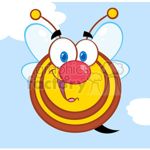 5583 Royalty Free Clip Art Cute Honey Bee Cartoon Mascot Character clipart. Royalty-free image # 388821