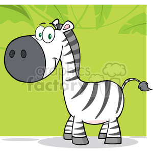 Smiling Zebra Cartoon Mascot Character clipart. Royalty-free image # 388831