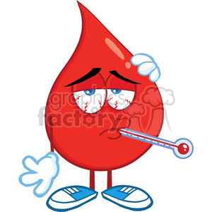 cartoon funny blood medical health character mascot