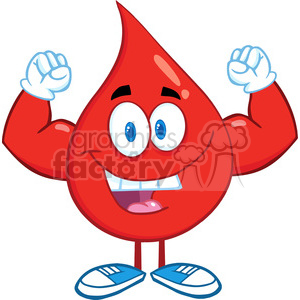 cartoon funny blood medical health character mascot muscles