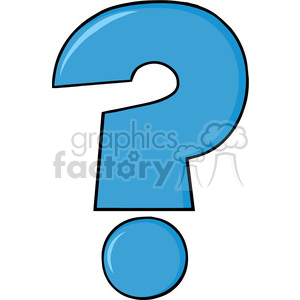 6250 Royalty Free Clip Art Cartoon Blue Question Mark clipart. Royalty-free image # 389322
