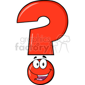 6255 Royalty Free Clip Art Happy Red Question Mark Cartoon Character clipart. Royalty-free image # 389342