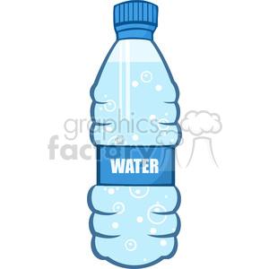 6241 royalty free clip art cartoon water bottle