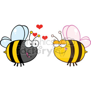 6554 Royalty Free Clip Art Cute Bee Looking Female Bee clipart. Commercial use image # 389442