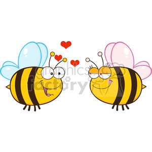 6553 Royalty Free Clip Art Cute Bee Looking Female Bee clipart. Royalty-free image # 389567