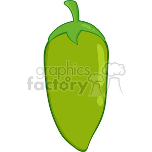 6767 Royalty Free Clip Art Green Chili Pepper clipart. Commercial use image # 389577