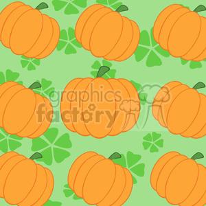 cartoon funny pumpkin Halloween October pumkins background seamless tiled
