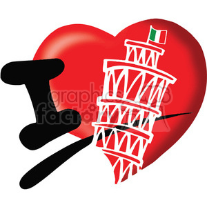 I love italy clipart. Commercial use image # 389777