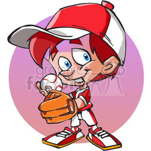 young baseball player cartoon clipart. Royalty-free image # 389867