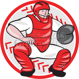 baseball catcher front catching clipart. Commercial use image # 389897