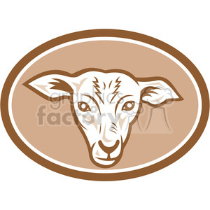 sheep lamb head front clipart. Royalty-free image # 389932