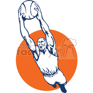 basketball player dunking clipart. Royalty-free image # 389962