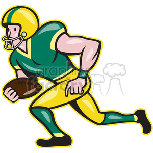american football receiver rusher side clipart. Commercial use image # 390002