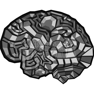 brain illustration polygons