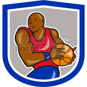 basketball player lay up clipart. Commercial use image # 390390