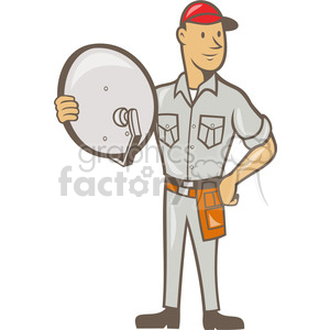 satellite tv installer clipart. Royalty-free image # 390420