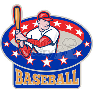 baseball player batting side clipart. Commercial use image # 390432