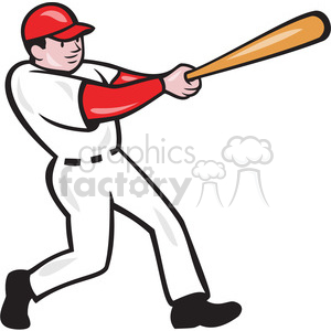 baseball player bat thru side clipart. Royalty-free image # 390474