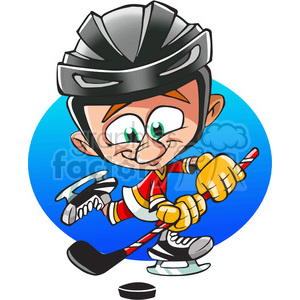 cartoon hockey player clipart. Royalty-free image # 390640