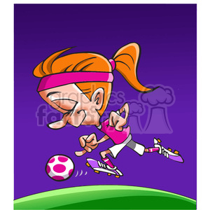 female soccer player clipart. Royalty-free image # 390696