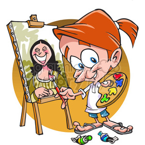 cartoon painter