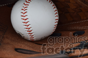 baseball in glove photo. Commercial use photo # 391041