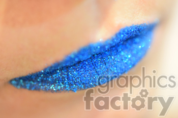 blue glitter lips photo. Royalty-free photo # 391156
