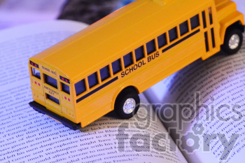 school bus crossing pages photo. Royalty-free photo # 391181