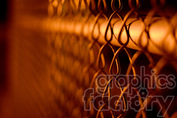 chain linked fence night scene clipart. Royalty-free image # 391296
