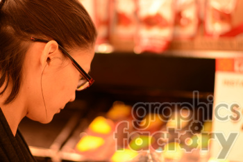 person shopping for groceries clipart. Royalty-free image # 391316