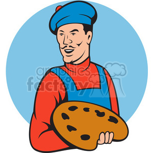 painter holding paint pallete clipart. Commercial use image # 391366
