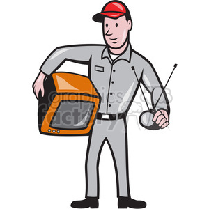tv technician repairman clipart. Royalty-free image # 391376