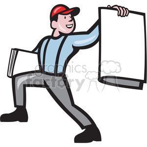 newspaper boy selling news clipart. Commercial use image # 391396