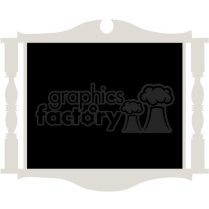 Chalkboard Frame 01 clipart. Commercial use image # 391550