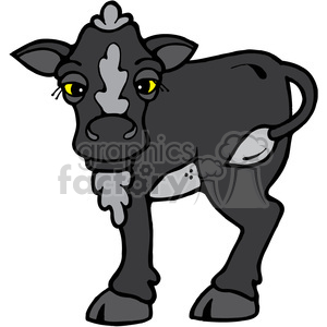 Hefer Calf Cow in color clipart. Royalty-free image # 391647