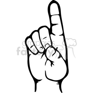 sign+language hand hands alphabet alphabets d Clip Art Signs-Symbols Sign Language  letter black white
