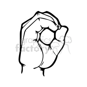 sign language letter O clipart. Royalty-free image # 167503