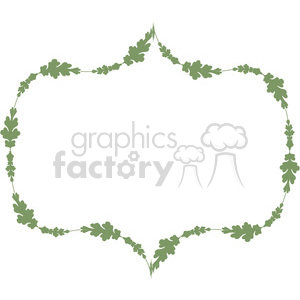 green floral frame swirls boutique design border 6 clipart. Royalty-free image # 392452