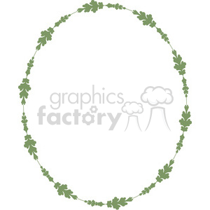 green floral frame swirls boutique design border 3 clipart. Royalty-free image # 392470