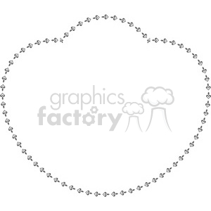 heart frame swirls boutique design border 4 clipart. Royalty-free image # 392481